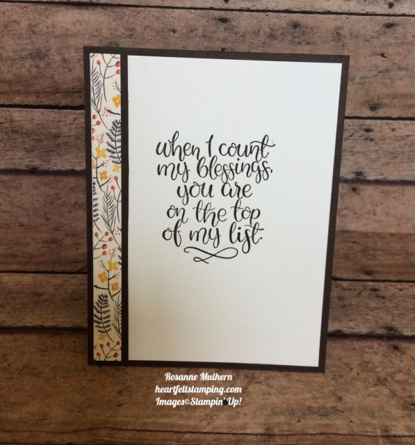Stampin Up Christmas Quilt Painted Autumn Thinking of You Cards Idea - Rosanne Mulhern