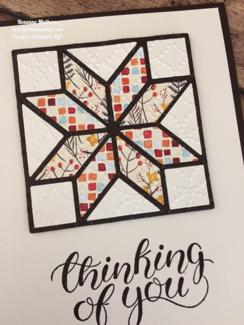 Stampin Up Christmas Quilt Painted Autumn Thinking of You Cards Ideas - Rosanne Mulhern