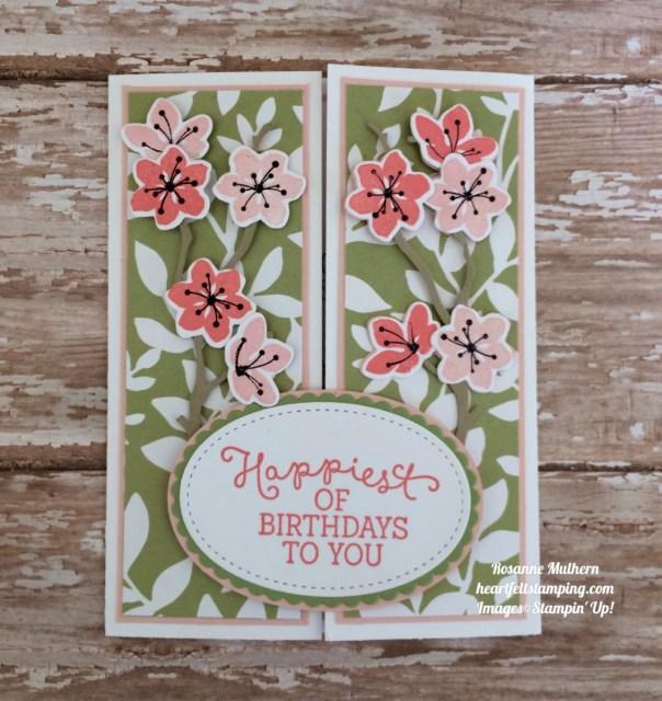 Stampin Up Colorful Seasons Gatefold Birthday Cards Ideas- Rosanne Mulhern