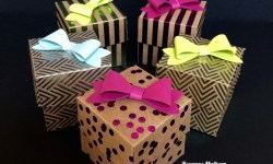Stampin Up Foil Frenzy Explosion Treat Boxes - Rosanne Mulhern