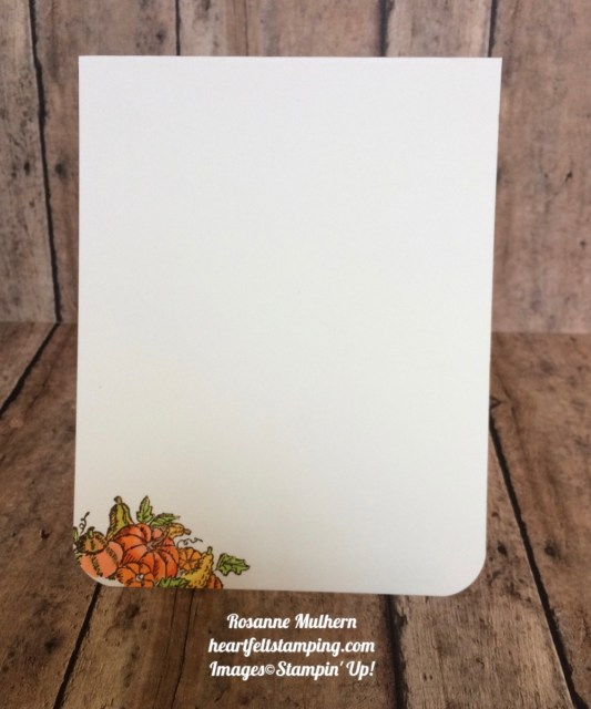 Stampin Up Basket of Wishes Painted Autumn Thank you card - Rosanne Mulhern