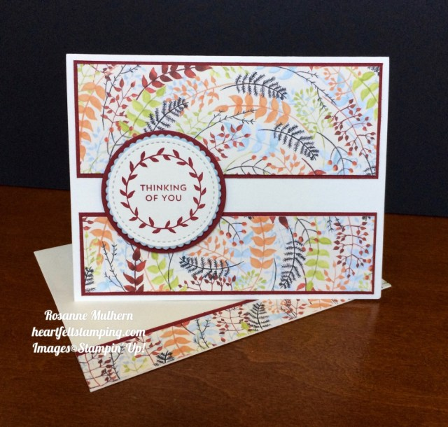 Stampin Up Painted Autumn Lots of Love Thinking of You Card Idea- Rosanne Mulhern