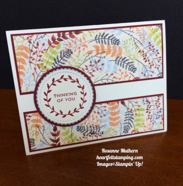 Stampin Up Painted Autumn Lots of Love Thinking of You Card Ideas- Rosanne Mulhern