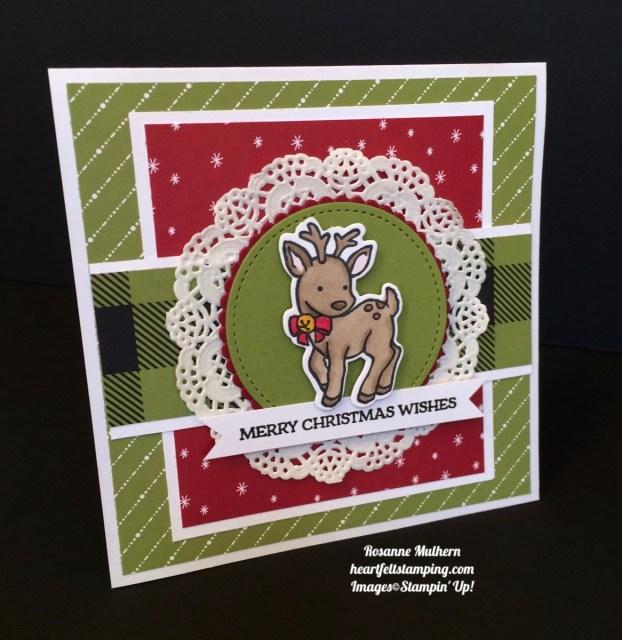 Stampin UP Seasonal Chum Christmas Cards - Rosanne Mulhern