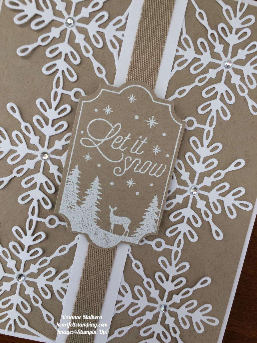 Stampin Up Swirly Snowflakes And Merry Little Labels