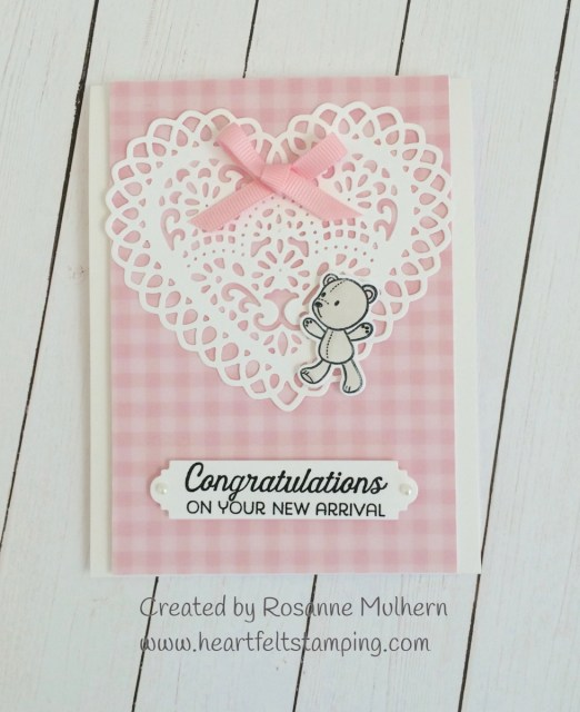 Baby Card for Tic Tac Toe Challenge #31 - Rosanne Mulhern