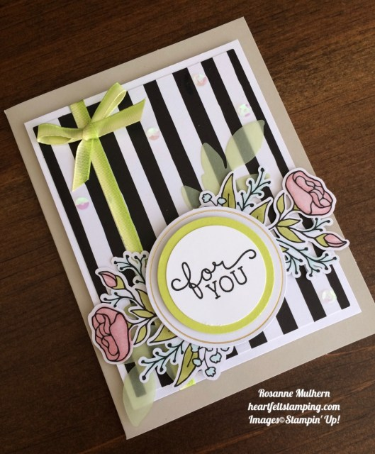 Stampin Up Lots of Happy Card Kit Birthday Card Idea- Rosanne Mulhern