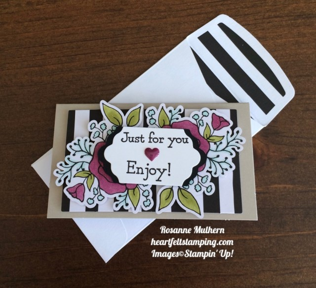 Stampin Up Lots of Happy Card Kit Petite Note Rosanne Mulhern