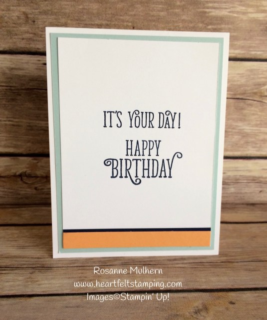 Stampin Up Oh Eclectic Birthday Card Inside - Rosanne Mulhern