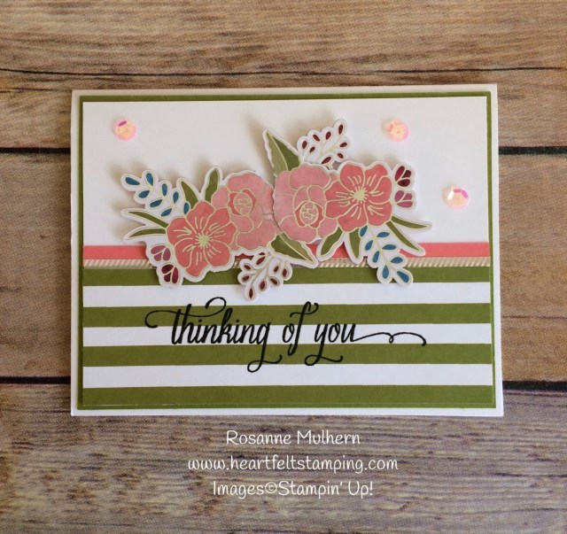 Stampin Up Sweet Soiree Thinking of You Card Idea - Rosanne Mulhern