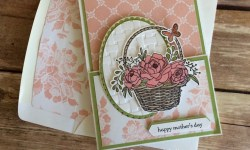 Blossoming Basket Mother's Day Gift Card Holder - Rosanne Mulhern Heartfelt Stamping