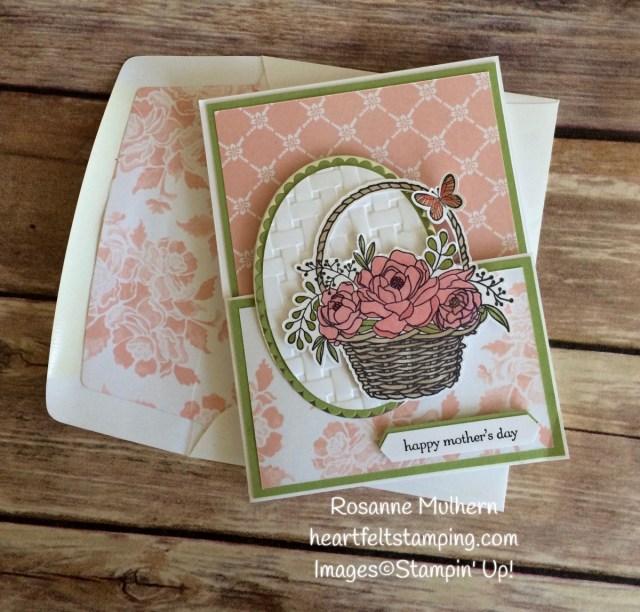 Blossoming Basket Mother's Day Gift Card Holder - Rosanne Mulhern Heartfelt Stamping