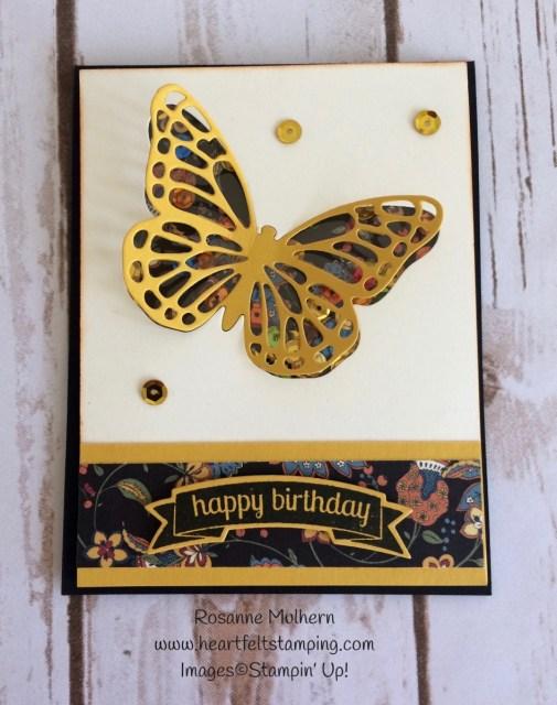 Bold Butterfly Birthday Card Idea - Rosanne Mulhern
