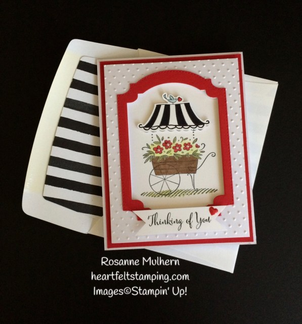 Stampin Up Friendships Sweetest Thoughts Thinking of You Card -Rosanne Mulhern Heartfelt Stamping