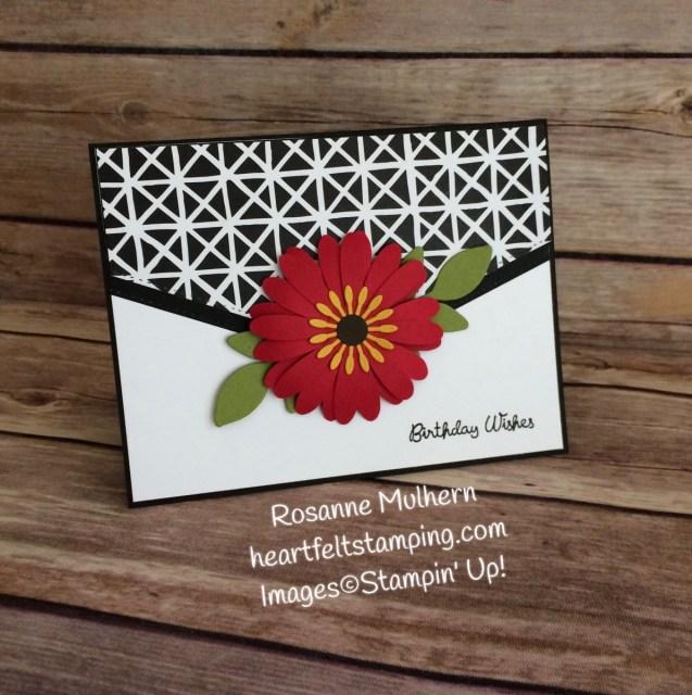 Stampin Up Daisy Punch Birthday Card Idea - Rosanne Mulhern Heartfelt Stamping