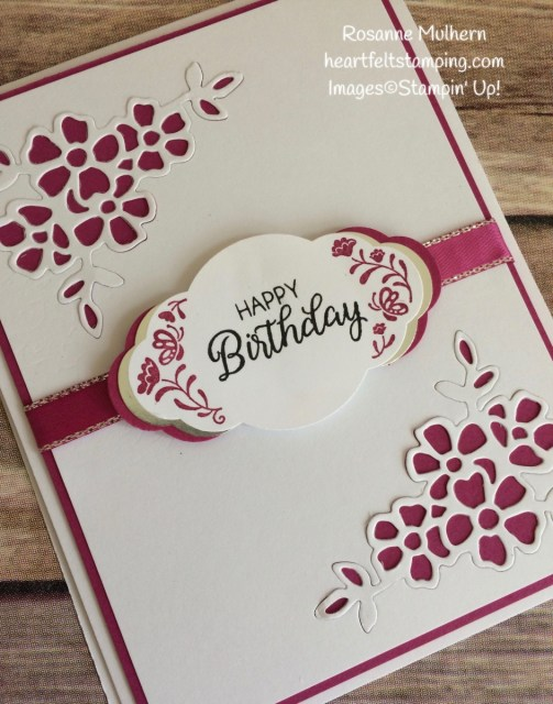 Stampin Up Label Me Pretty Birthday Card Idea-Rosanne Mulhern Heartfelt Stamping