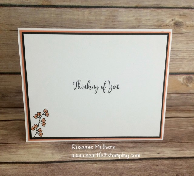 Stampin Up Varied Vases Hello card -Rosanne Mulhern Heartfelt Stamping