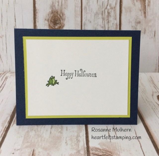 Stampin Up Cauldron Bubble Halloween Card -Rosanne Mulhern Heartfelt Stamping