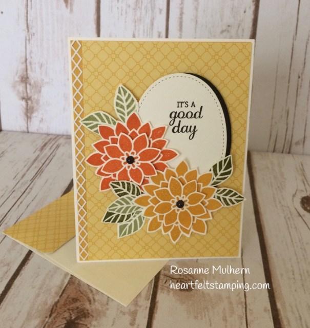 Stampin Up Flourishing Phrases Birthday Card Ideas - Rosanne Mulhern Heartfelt Stamping