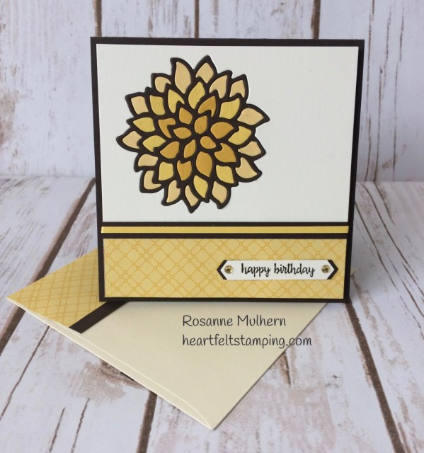 Stampin Up May Flowers Fall Birthday Card Idea -Rosanne Mulhern Heartfelt Stamping