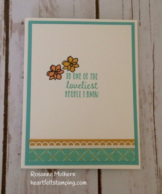 Stampin Up Time for Tea Friendship Card Idea - Rosanne Mulhern Heartfelt Stamping
