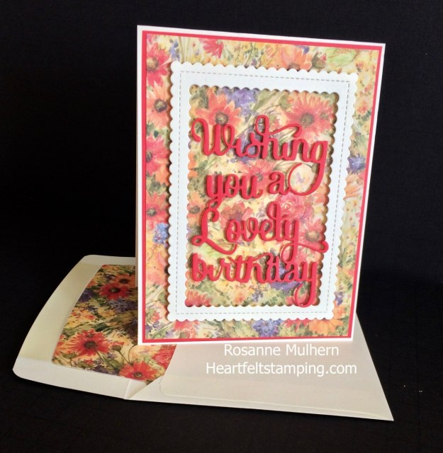 PTI Wishing You a Lovely Birthday- Rosanne Mulhern Heartfelt Stamping