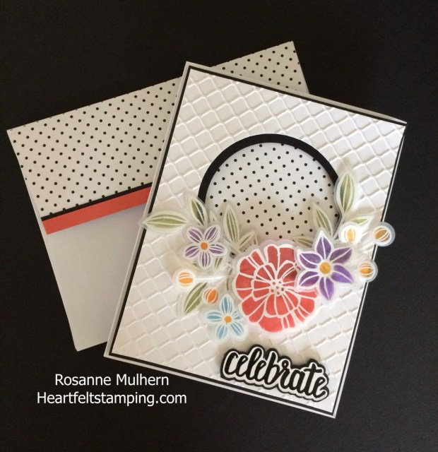 SU Falling Flowers Birthday Card - Rosanne Mulhern Heartfelt Stamping