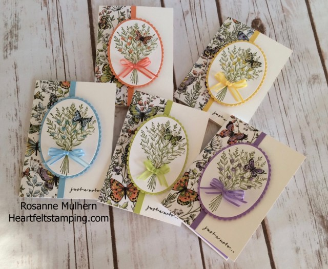 Stampin Up Wishing You Well Note Cards - Rosanne Mulhern Heartfelt Stamping