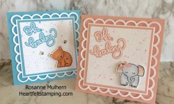Baby Cards - Rosanne Mulhern Heartfelt Stamping