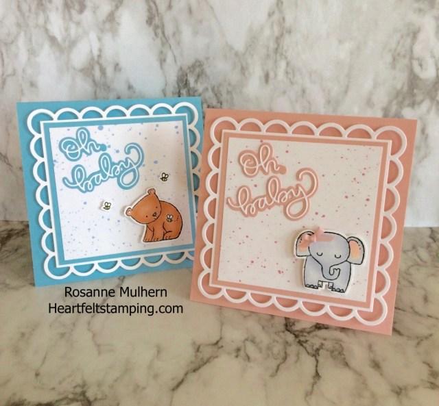 Baby Cards - Rosanne Mulhern Heartfelt Stamping