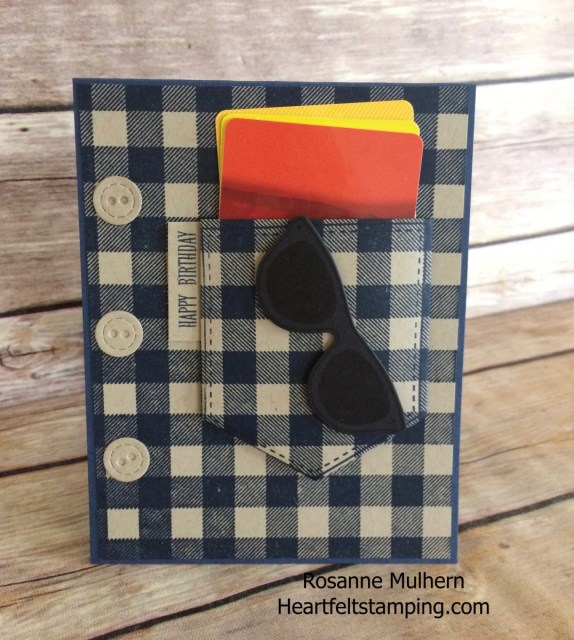 Stampin Up Buffalo Check Masculine Birthday Card -Rosanne Mulhern Heartfelt Stamping