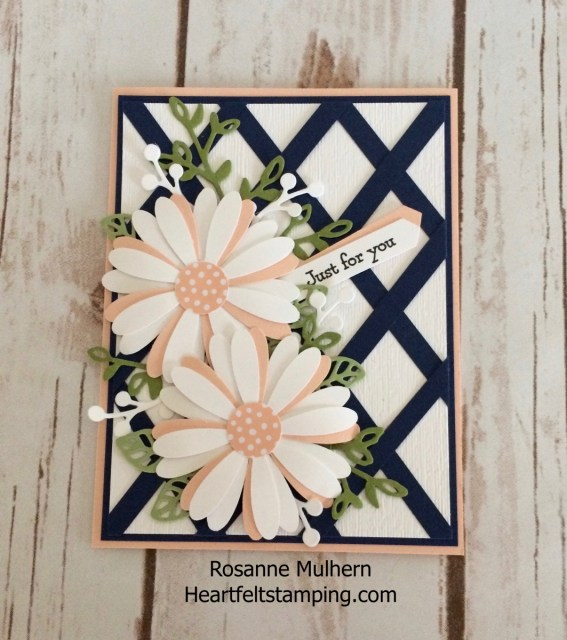 Stampin Up Daisy Punch Mother's Day Card -Rosanne Mulhern Heartfelt Stamping