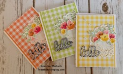 Stampin Up Hello Card - Rosanne Mulhern Heartfelt Stamping
