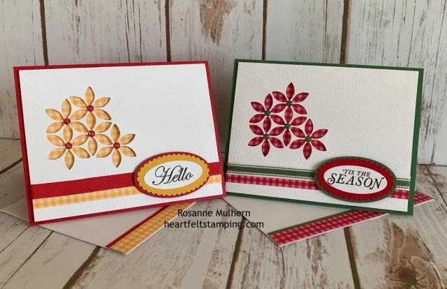 Stampin Up Tasteful Backgrounds Card Ideas - Rosanne Mulhern stampinup
