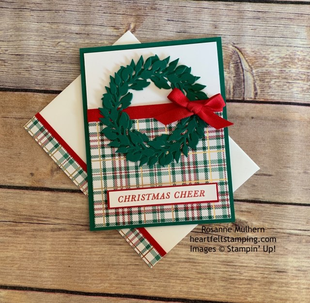 Tidings All Around Christmas Card Idea- Rosanne Mulhern stampinup
