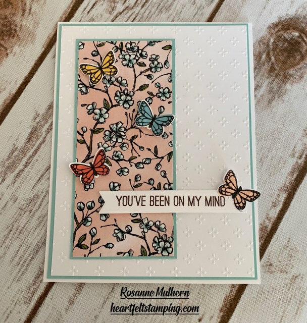 Stampin Up Butterfly Gala Thinking of You Card Idea -Rosanne Mulhern stampinup