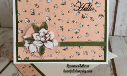 Stampin Up Good Morning Magnolia Hello Card Idea -Rosanne Mulhern stampinup