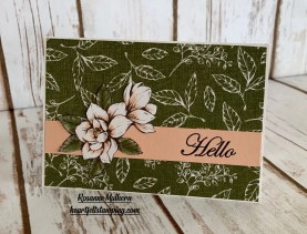 Stampin Up Good Morning Magnolia Hello Note Card Idea -Rosanne Mulhern stampinup