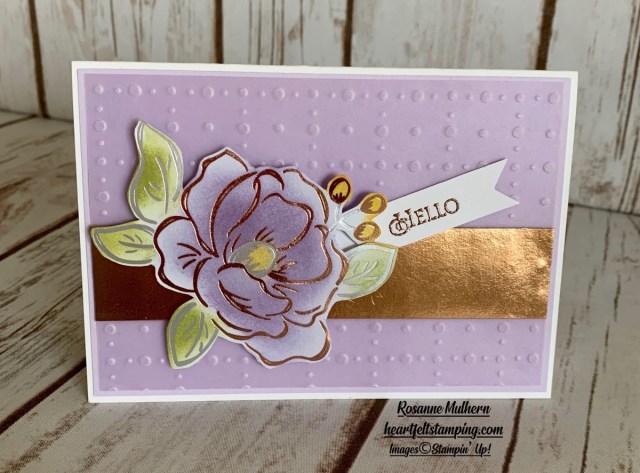 Stampin up Flowering Foils Note Cards-Rosanne Mulhern stampinup