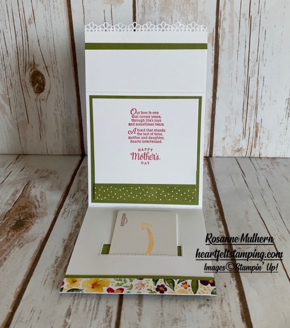 Special Occasion Gift Card Holder Ideas- Rosanne Mulhern stampin up