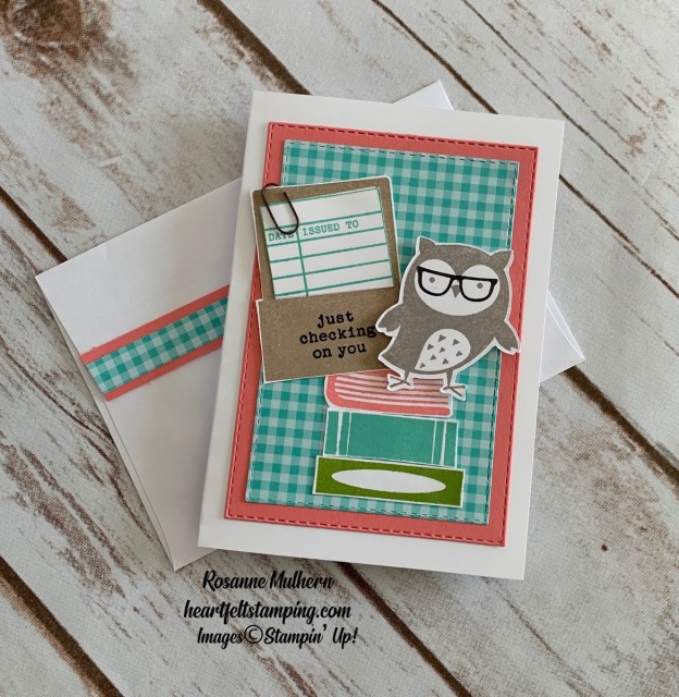 Stampin Up Check You Out Thinking of You Card Rosanne Mulhern stampinup