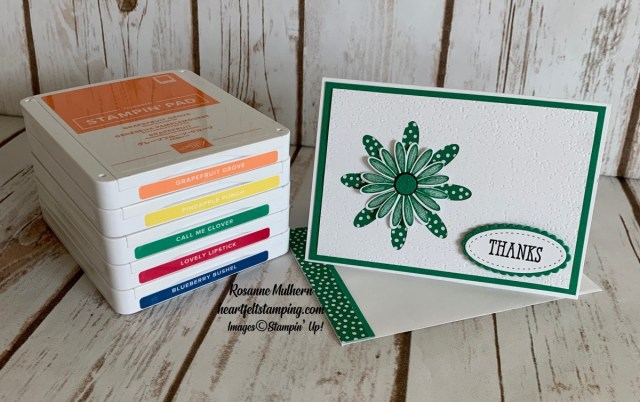 Stampin Up Daisy In-Color Thank You Notes -Rosanne Mulhern stampinup