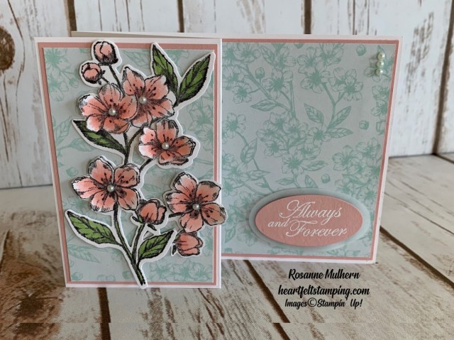 Stampin Up Forever Blossom Wedding Card- Rosanne Mulhern stampinup
