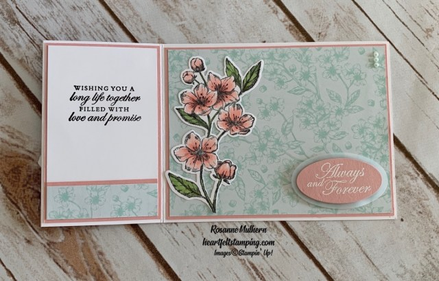 Stampin Up Forever Blossom Wedding Card-Rosanne Mulhern stampinup