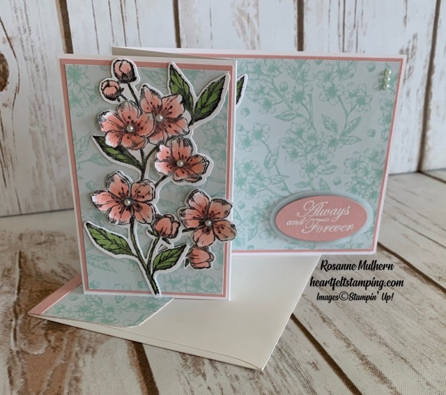 Stampin Up Forever Blossom Wedding Card - Rosanne Mulhern stampinup