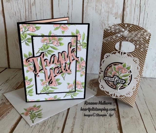 Stampin Up Botanical Prints Thank You Card Idea-Rosanne Mulhern stampinup
