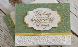 Stampin Up Ornate Garden Congratulations Card Idea - Rosanne Mulhern stampinup