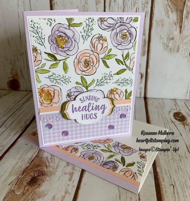 Stampin Up So Sentimental Get Well Card Ideas - Rosanne Mulhern stampinup