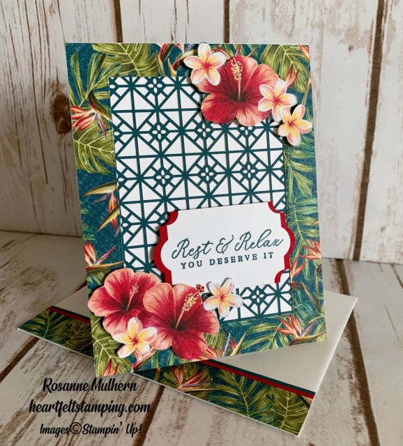 Stampin Up Timeless Tropical Retirement Card - Rosanne Mulhern stampinup