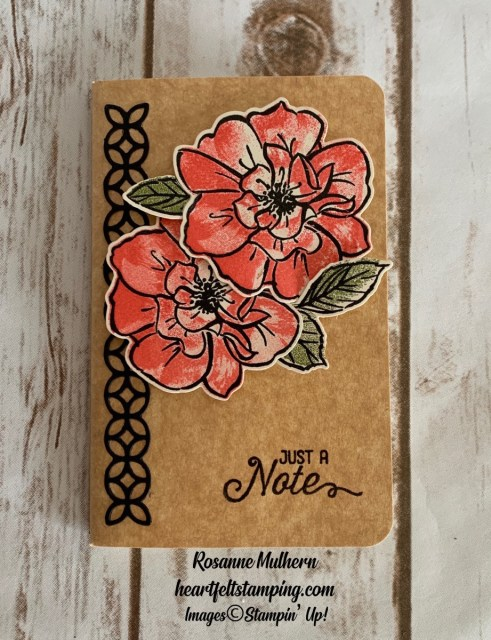 Stampin Up To A Wild Rose Notebooks-Rosanne Mulhern stampinup